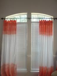 ombre double dipped sea coral curtain panels 48 on etsy com