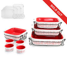 oven to table bakeware sets cook s companion 20 piece ceramic oven to table bake serve set