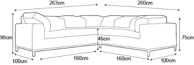 dimension canape canapé d angle confortable et esthétique melton mobilier moss