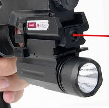 laser light combo for glock 22 2in1 tactical cree led flashlight light red laser sight combo for
