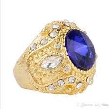 blue gemstones rings images 2018 blue green red big gemstone rings luxury gold plating crown jpg