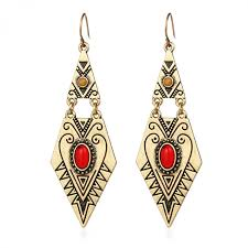 trendy earrings earrings with geometric design