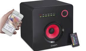 ion bluetooth speaker with lights ion flash cube bluetooth speaker groupon goods