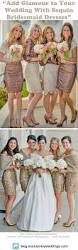 add glamour to your wedding with sequin bridesmaid dresses