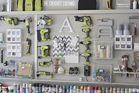 pegboard kitchen ideas organizing the garage with diy pegboard storage wall