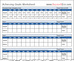 Goals And Objectives Template Excel How To Set Financial Goals 3 Financial Goals Worksheets Squawkfox