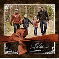 blessed family square christmas card photo season design