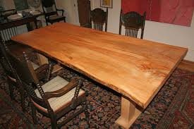 custom made ambrosia maple dining table live edge by fredric blum