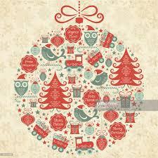 retro christmas ornament multilanguage wishes vector art getty