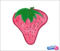 how to draw how to draw a strawberry hellokids com