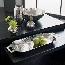 silver home decor modern hammered tray ethan allen us silver