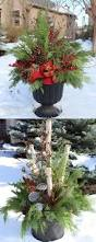 70 Diy Christmas Decorations Easy by How To Make Your Own Outdoor Holiday Planter Planters Holidays