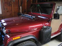jeep cj hood certifiablejeep com hood rack w hi lift jack and isolator