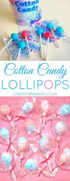 cotton candy party favor mini cotton candy lollipops lindsay bakes