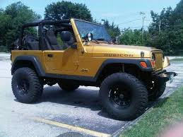 gold jeep wrangler find used inca gold 2003 jeep rubicon on a 4 lift in closter new