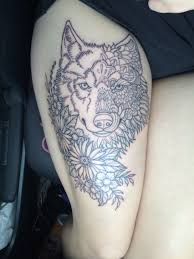 my wolf and flower combo every has a spirit and every