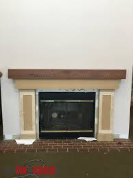 ana white fireplace surround and mantel diy projects
