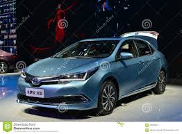 automobile toyota toyota corolla hybrid car editorial stock image image 70025674