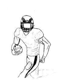 a rough sketch of american football player colouring page happy