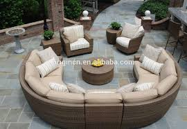 Rattan Curved Sofa 11 Seater Curved Rattan Sofa Set With Lounge Chair Sectional For