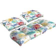Wicker Settee Cushion Set Wicker Cushion Set Ebay