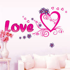 Heart Wall Stickers For Bedrooms Love Heart Diy Removable Art Vinyl Wall Sticker Mural Art Wall