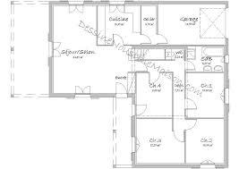 plan plain pied 5 chambres plan maison 5 chambres plain pied gratuit plan maison toit terrasse
