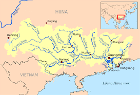 rivers in china map xi river china map