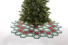 crochet poinsettia tree skirt premier yarns giveaway craft