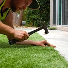 Fake Grass Outdoor Rug Artificial Grass An Outdoor Decorating Trend The Home Depot