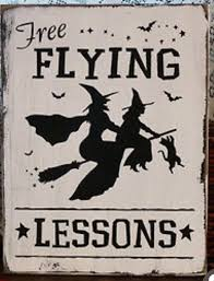 halloween dancing witch and cat silhouette template stencil