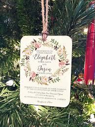 personalized wedding invitation ornaments