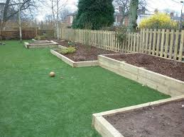 full image for garden ideas with wooden sleepers garden fountain