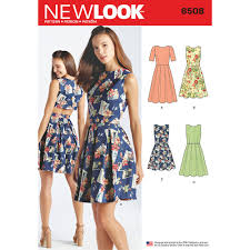 womens dress with open or closed back variations new look sewing