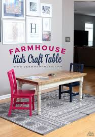 Diy Student Desk by Kids Farmhouse Table Pretty Kids Play Table And Storage