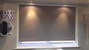 motorised remote controlled blackout roller blind youtube