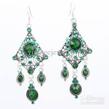 green earrings beautiful green earrings retro bohemian fashion jewelry lm e112
