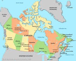 Map Canada Provinces by Canada Physical Map