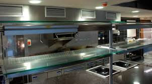 elegant and peaceful small restaurant kitchen design small