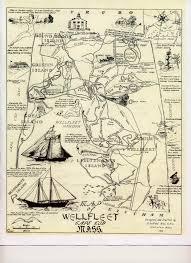 wellfleet 1930s tourist map wellfleet ma u2022 mappery