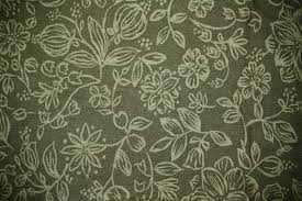 olive green fabric with floral pattern texture picture free