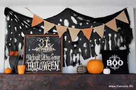 my halloween mantel the rustic life