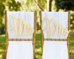 wedding chair signs gold promises classic mr mrs wedding chair signs