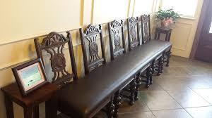 custom waiting room bench heath refinishing