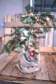 make a burlap sacked charlie brown christmas tree funky junk