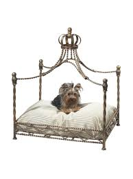 Dog Bed With Canopy Amazon Com Myhabit Antique Gold Iron Crown Canopy Pet Bed Gold