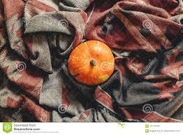 happy or thanksgiving flat lay autumn pumpkin on styl