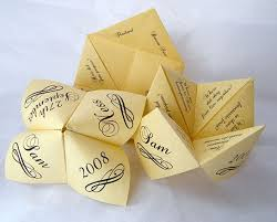 cootie catcher wedding program template free wedding projects origami fortune teller clever way to