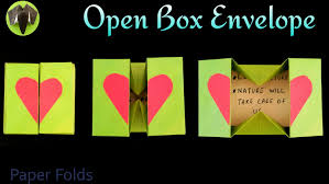 open box envelope diy origami tutorial by paper folds