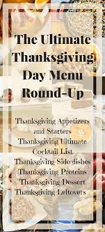 the ultimate thanksgiving day menu up cutting board
